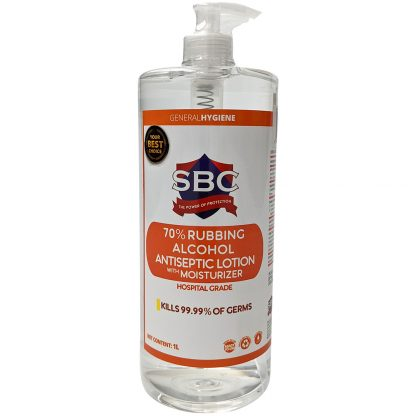 SBC 70% Rubbing Alcohol Antiseptic Lotion with Moisturizer 1 litre